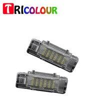 ثلاثي الألوان سيارة الصمام ضوء باب المجاملة 3d الشبح 12 فولت الأبيض 18 led 3528 7.6*2.9*1.7 لسيارات bmw e53 x5 e39 e52 Z8 الساخن بيع # TM119