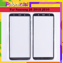 10Pcs/lot For Samsung Galaxy J8 2018 J810 J810F SM-J810F/DS J810G ouch Screen Front Outer Glass TouchScreen Lens LCD panel