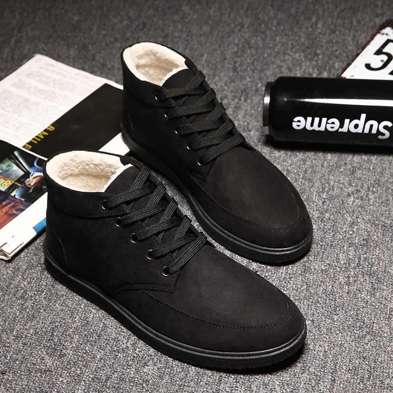 afd26039 ... ZYYZYM/мужские ботинки,обувь мужская, зимние мужские ботинки на  шнуровке, Стильные Модные ...