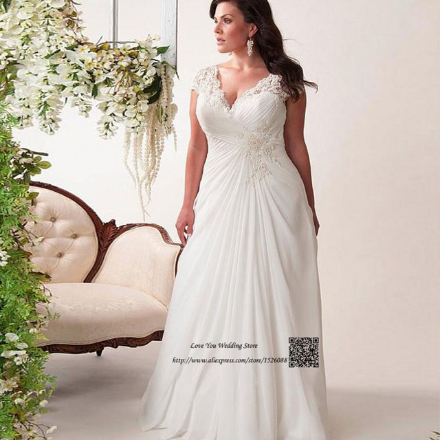 Aliexpress Buy Elegant Plus Size Wedding Dress 2017 Pleated