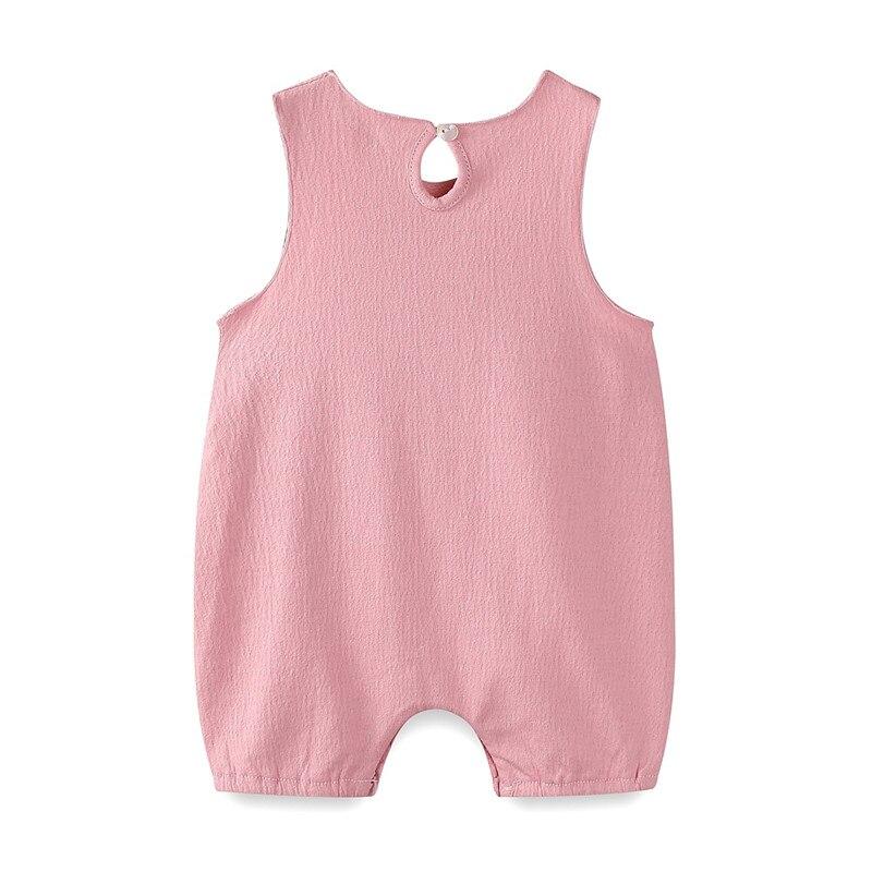 Mudkingdom/Детские ползунки армия Твердые кнопку назад хлопок без рукавов Bbay одежда для мальчика и девочки Повседневное летняя одежда
