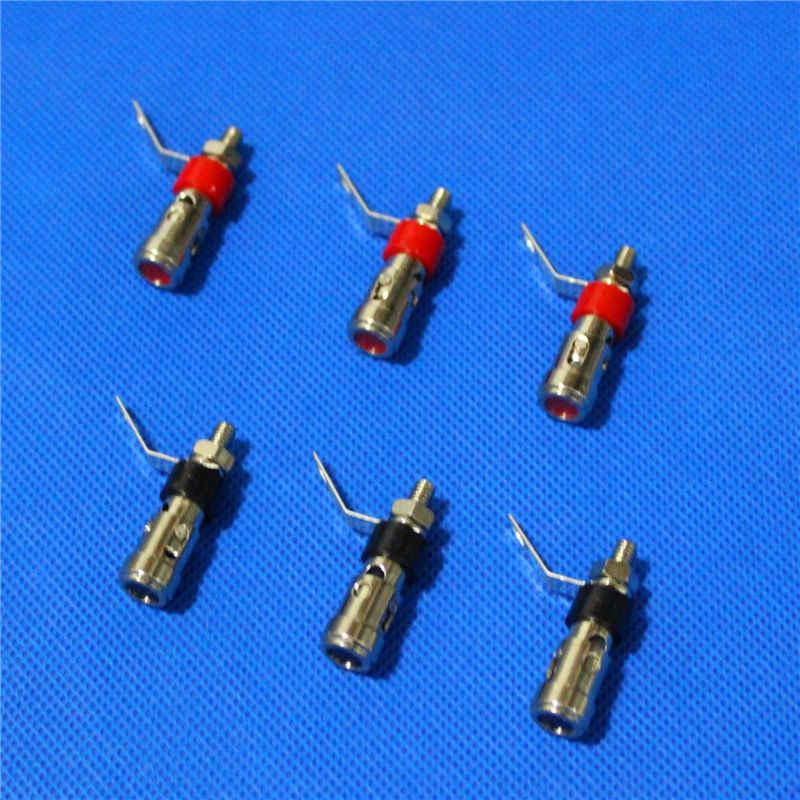 10 pcs 40 centimetri Argento In Ottone Placcato Speaker Binding Post Caricato A Molla Presse Subwoofer Cestino Terminale