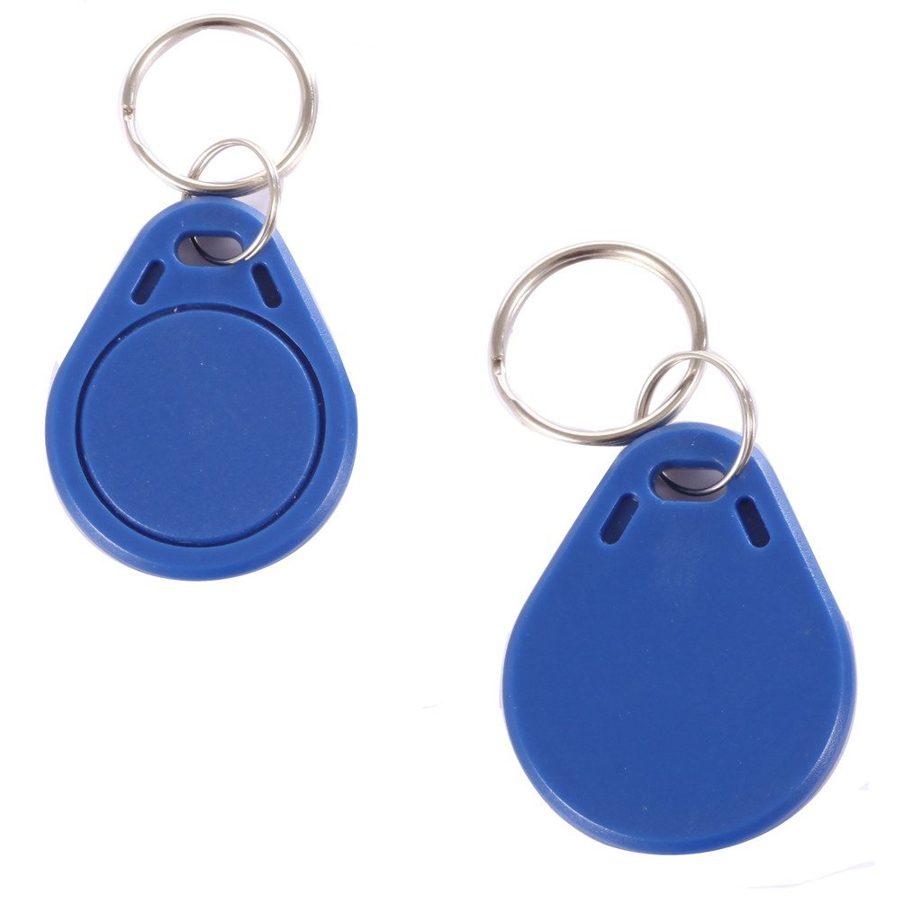 OBO HANDS RFID 13.56MHz IC read and write Card Tag Token Keyfob Keytag Keychain (Color Blue Pack of 100) 1000pcs long range rfid plastic seal tag alien h3 used for waste bin management and gas jar management