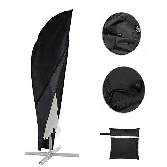 All-purpose Covers Confident Outdoor Garden Black 210 Oxford Cloth Banana Umbrella Dust Cover Weatherproof Patio Cantilever Parasol Rain Prevention Bag Fc49 Sales Of Quality Assurance