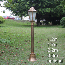 London style post lamp British style garden road light court style lawn street lamp vintage road light with rod