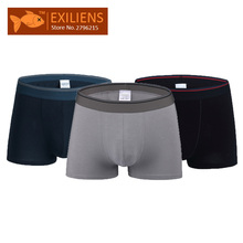 [EXILIENS] Man Boxers 3 Pcs\Pack Brand Underwear Men