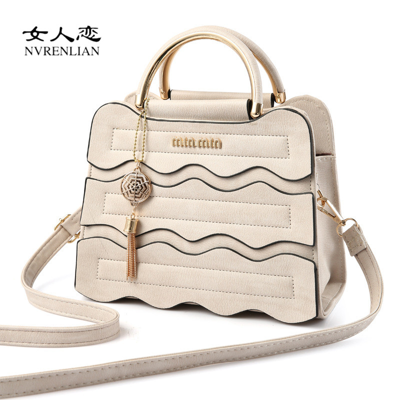 2017 Women Leather Handbags Striped Patchwork Shoulder Bags Messenger Bags Flap Casual Cross Body Vintage Tote Female Bag bolsa women vintage handbags ladies tote cross body shoulder messenger england