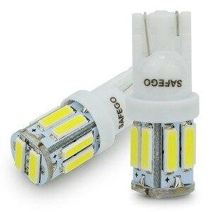 Image 3 - Safego 4x T10 W5W LED 電球 10 7020 SMD 194 168 2825 T10 ウェッジ交換ライト T10 白信号トランクダッシュボード駐車ランプ