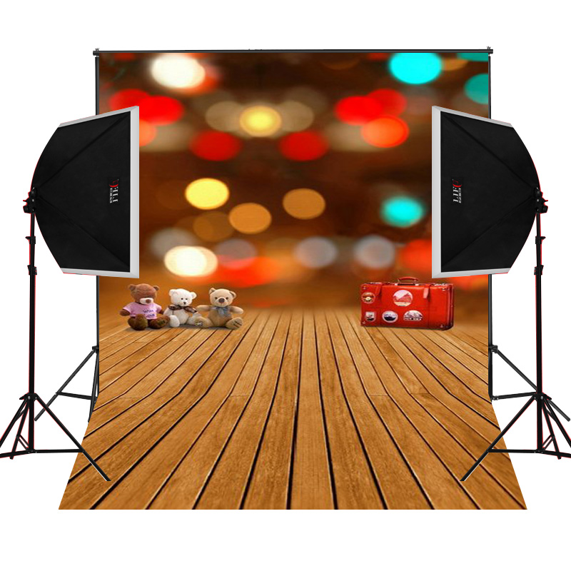 Neon red suitcase scenic for kids photos camera fotografica studio vinyl photography background backdrop cloth digital props