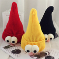 2017 Korean Stylish Children Knitted Pointy Hat Big Eyes Wool Unisex Baby cute Funny Hat cartoon winter warm Cap 10 Month-3 Year