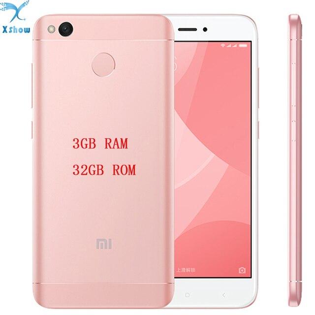 """Оригинальные новые Xiaomi Redmi 4X Pro 3 ГБ Оперативная память отпечатков пальцев ID Snapdragon 435 Octa Core 5.0 """"720 P 13MP Камера мобильного телефона"""