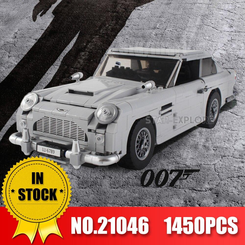 Лепин 21046 21045 технические игрушки строительные блоки Legoinglys 10262 создатель эксперт 007 Джеймс Бонд Астон модель автомобиля Мартин DB5 модель