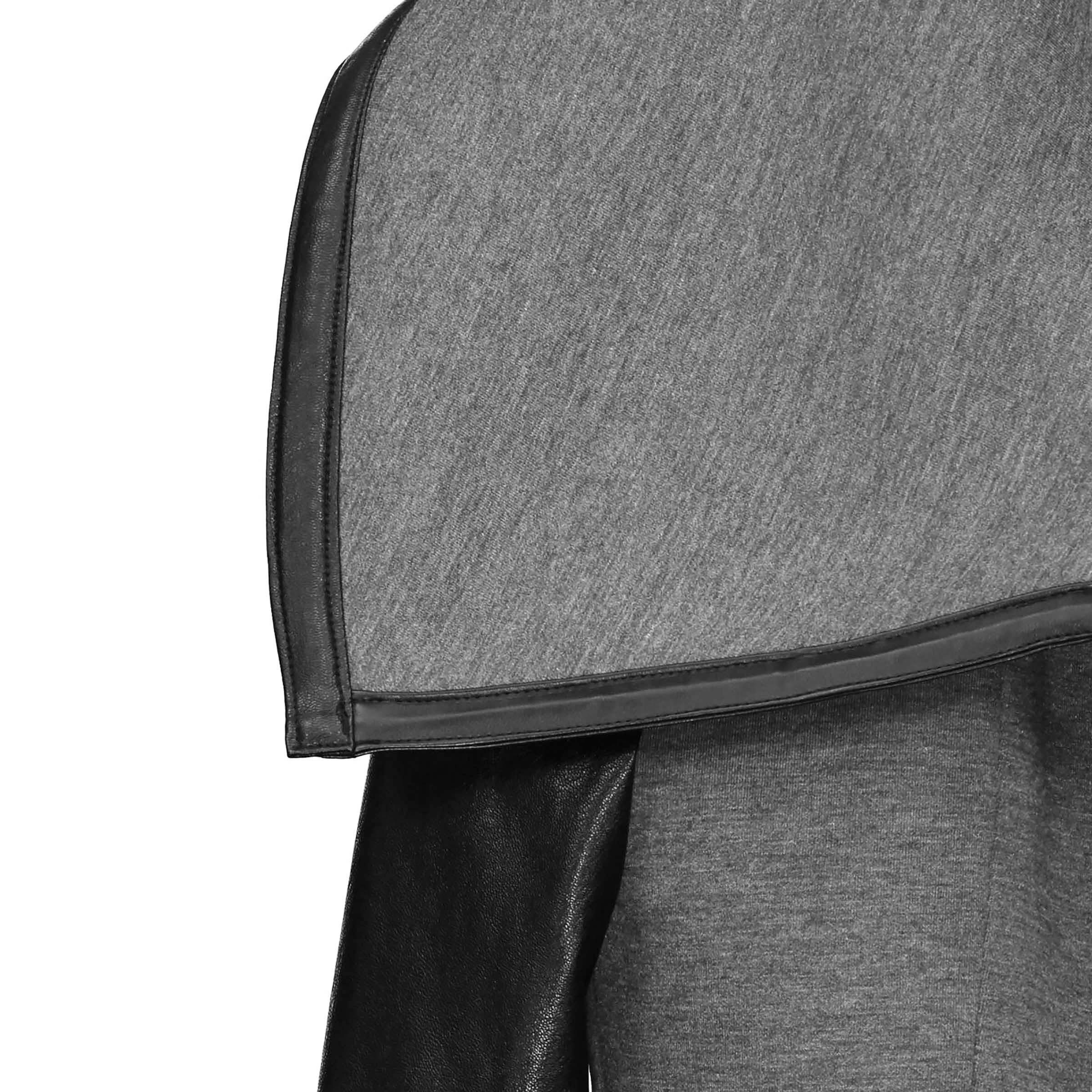 Street Manteau Casual Automne 2018 Maigre Élégant Manches Noir Femmes Survêtement High Pu Bureau Cuir Goth En Simple Dames Top Hiver Veste qPdEE