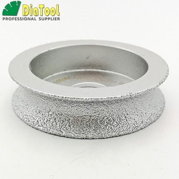 diatool dia75mmx30mm hand held grinding wheel vacuum brazed diamond flat grinding wheel profile wheel for stone artificial stone DIATOOL Dia75mmX15mm Half-round Vacuum Brazed Diamond HAND-HELD Profile Wheel For Stone Artificial Stone Ceremics Glass Concrete