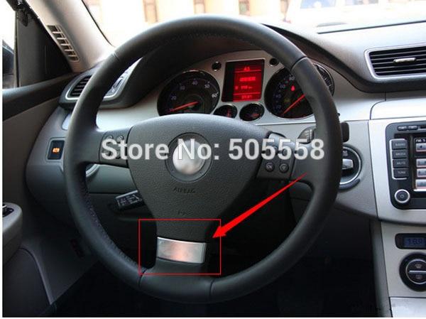 Chrome Multifunction Steering Wheel Trim Cover Decal For VW Golf Jetta MK5 GTI Passat B6 Touran Car Accessories 3pcs multifunction steering wheel cruise switch handle bar for vw rabbit tiguan touran jetta golf mk6 gti mk5 a3 1k0 953 513 g