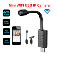 U21 HD Smart Mini Wifi USB Camera Real time Surveillance IP Camera AI Human Detection Loop Recording Mini camera Support 128G