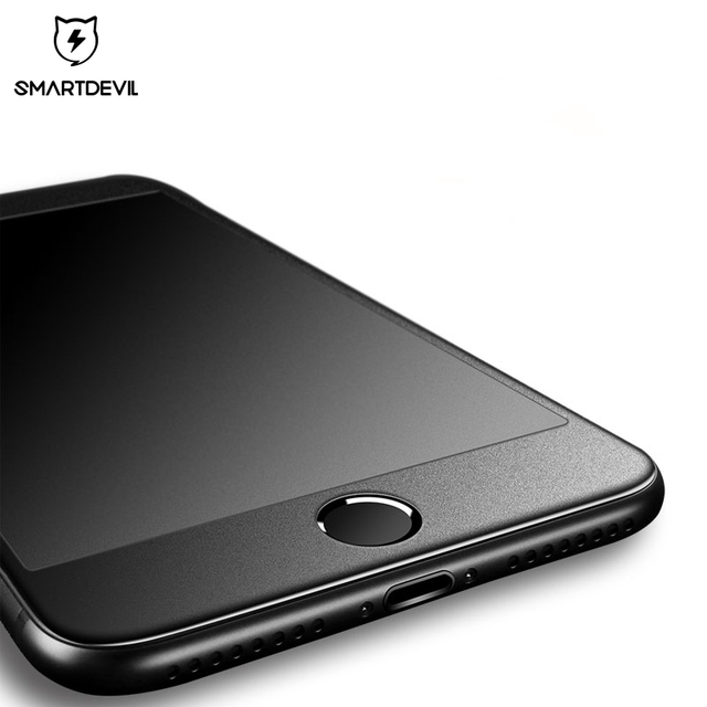 SmartDevil matte tempered glass for apple iphone 7 8 plus full coverage protective film screen protector 3H curved 9H hard film