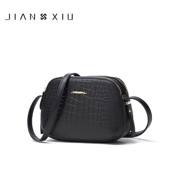 JIANXIU Brand Female Shoulder Crossbody Crocodile Pattern Genuine Leather Handbag 2019 Women Messenger Small Tote Bags 2 Color
