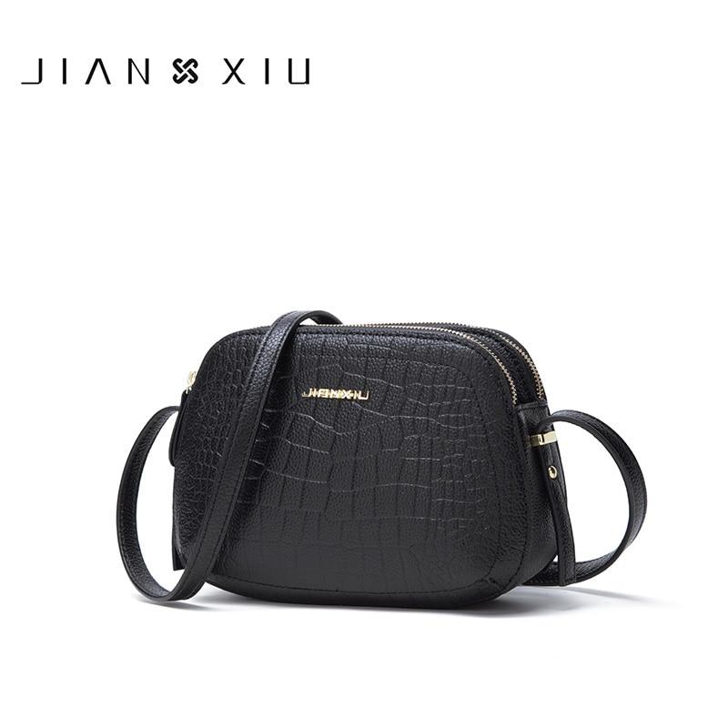 Bagaj ve Çantalar'ten Omuz Çantaları'de JIANXIU Marka Kadın Omuz Crossbody Timsah Desen Hakiki Deri Çanta 2019 Kadın Haberci Küçük Çanta Torbaları 2 Renk'da  Grup 1