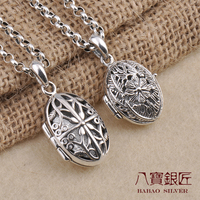 Eight S925 Sterling Silver Pendant gawu silversmith photo box can be opened eight wholesale