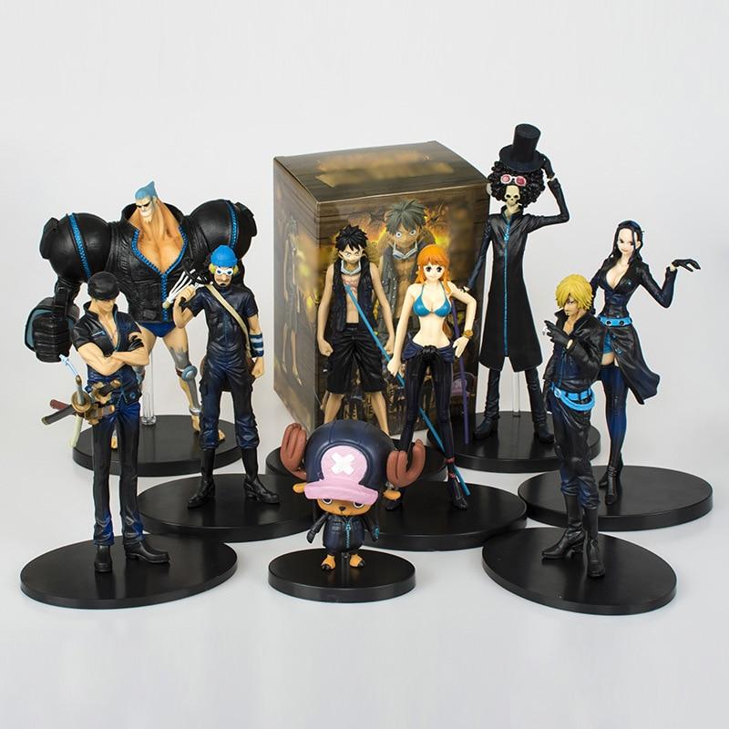 Anime One Piece theatrical version Film Gold black 9pcs//set PVC Figure No Box