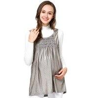 WLG maternity dress radiation clothes maternity sliver fiber gray pink dresses