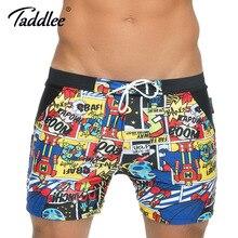 Taddlee бренд мужской купальники купальники совета шорты плюс размер xxl высотных традиционные основные плавать боксер плавках