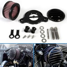 Car-Styling Black Cover Air Cleaner Intake Filter System Kit For Harley Sportster XL883 XL1200 2004-2015(China)