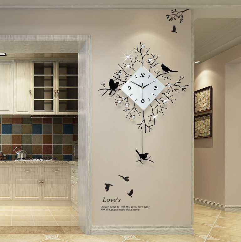European Minimalist Creative Wall Clock Living Room Mute Clock Modern Home Clock Fashion Decorative Quartz Clock 2019 Hot Sale