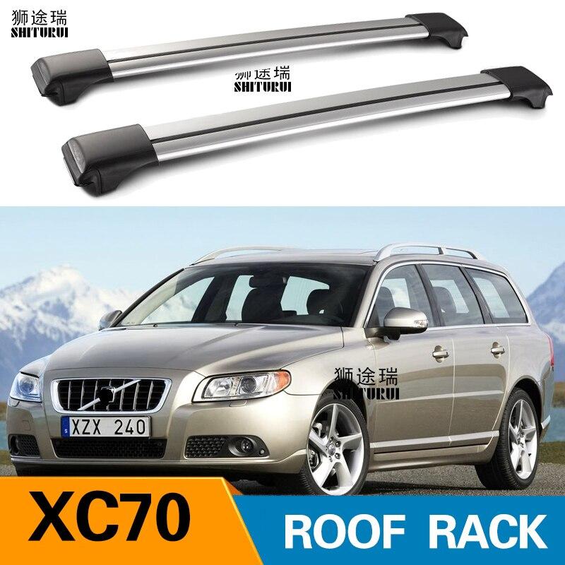 2Pcs Roof bars For VOLVO XC70 2007-2016 Aluminum Alloy Side Bars Cross Rails Roof Rack Luggage2Pcs Roof bars For VOLVO XC70 2007-2016 Aluminum Alloy Side Bars Cross Rails Roof Rack Luggage