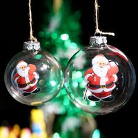 Christms Tree Decoration Supplier Father Christmas Carry Gift Bag Xmas Ornament Glass Ball Event Party Outdoor
