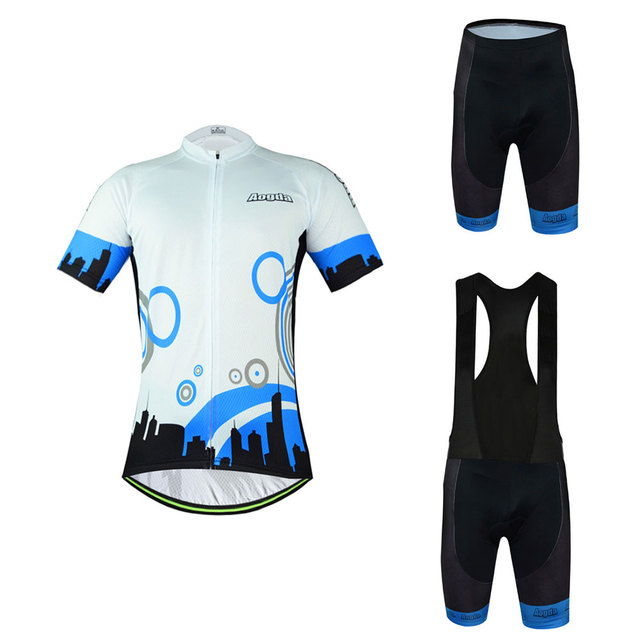Aogda Road Bike Clothing Kit Mens Cycle Jersey and Cycling Padded (Bib) Shorts  Set Cool City Bicycle Sportswear Reflective fd0492ab2