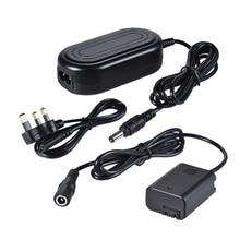 Andoer AC PW20 fonte de alimentação ca NP FW50 manequim bateria adaptador da câmera carregador para sony a7 a7ii a7s a7r a7sii a7rii a6500 a6300 etc