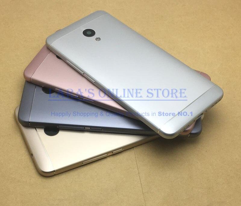 Original for Meizu 5S Aluminum Battery Door Cover Back Housing Case W Camera Lens +Side Buttons for meizu M5 Note M5S