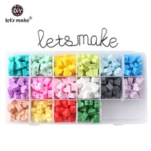 Let's Make Silicone Beads 20pc 14mm Heart Shaped Perle Baby Products