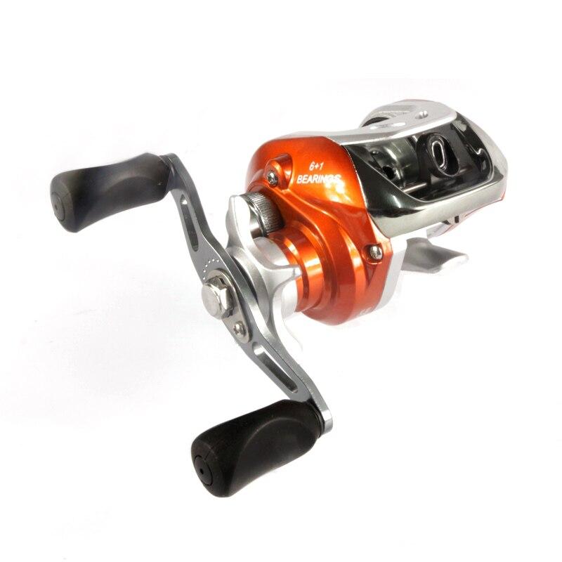 New metal 6+1BB Ball Bearings Left/right Hand Bait Casting Carp Fishing Reel High Speed Baitcasting Pesca 6.3:1 water drop wheel