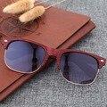 Mulheres Óculos De Sol Retros Do Vintage de Imitação De Madeira De Bambu óculos de Sol para Homens Óculos De Armação de Plástico Óculos De Sol Masculino Feminino