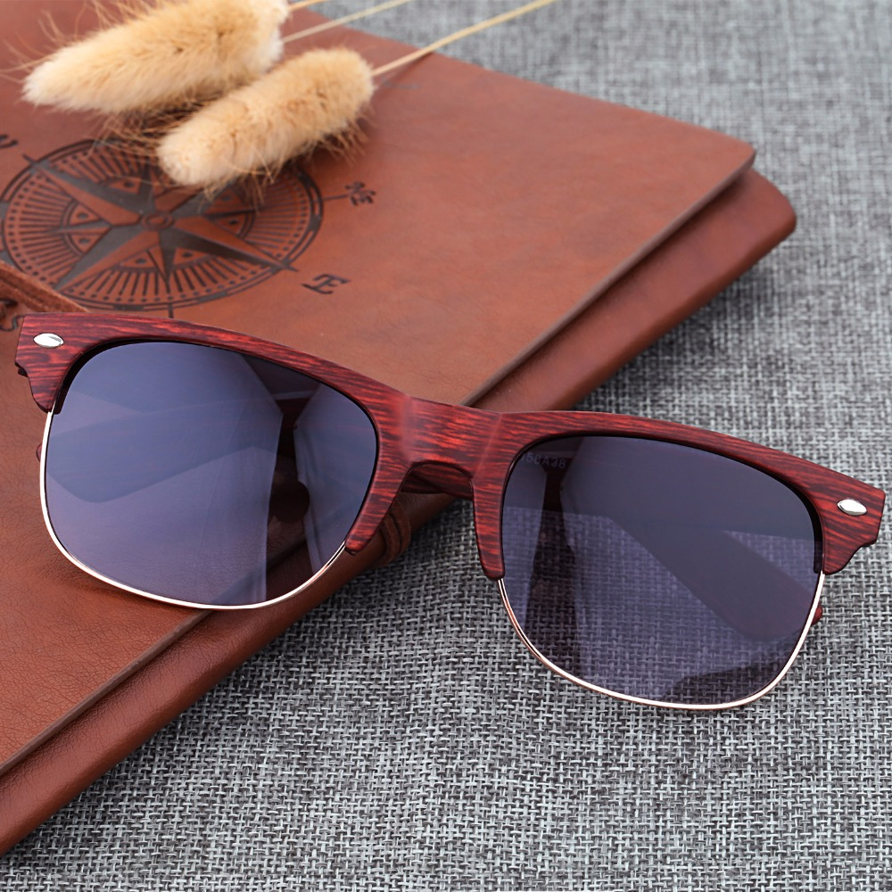 1a4c1100385b6 Women Sunglasses Retro Vintage Bamboo Imitation Wood Sun glasses for Men  Plastic Frame Eyewear Oculos De Sol Masculino Feminino - us51