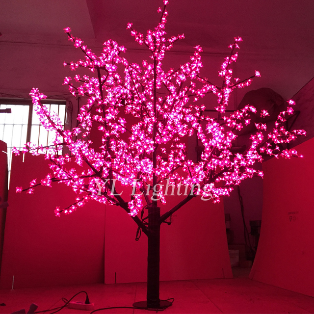 christmas led lights decoration artificial holiday tree white cherry blossom outdoor xmas new year wedding party
