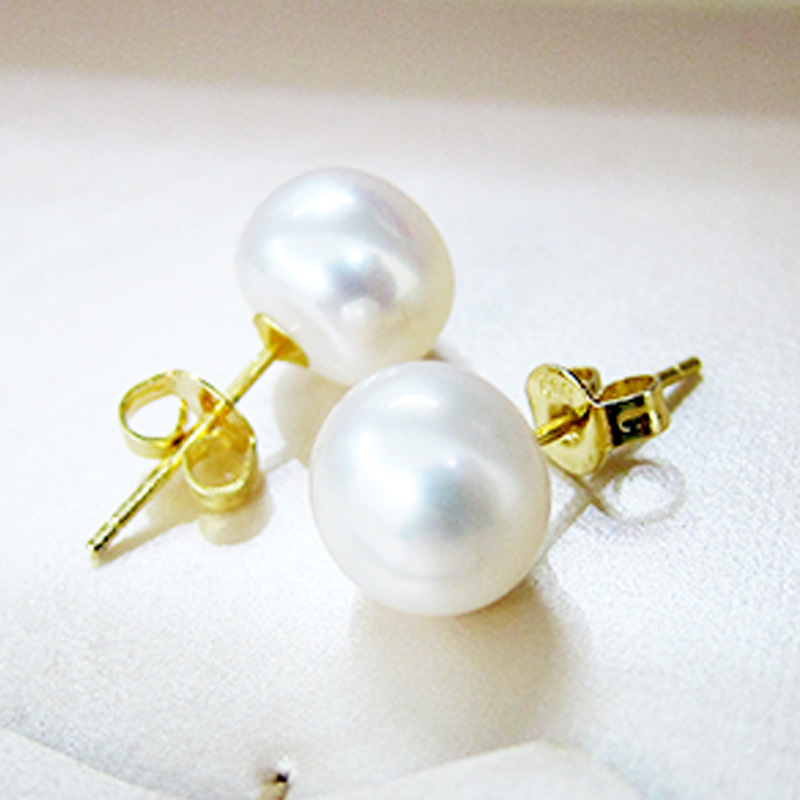 New Women 39 s Pearl Stud Earrings 925 Sterling Silver Elegant Freshwater Pearl Women 39 s Jewelry Accessories High Jewelry Earrings in Earrings from Jewelry amp Accessories