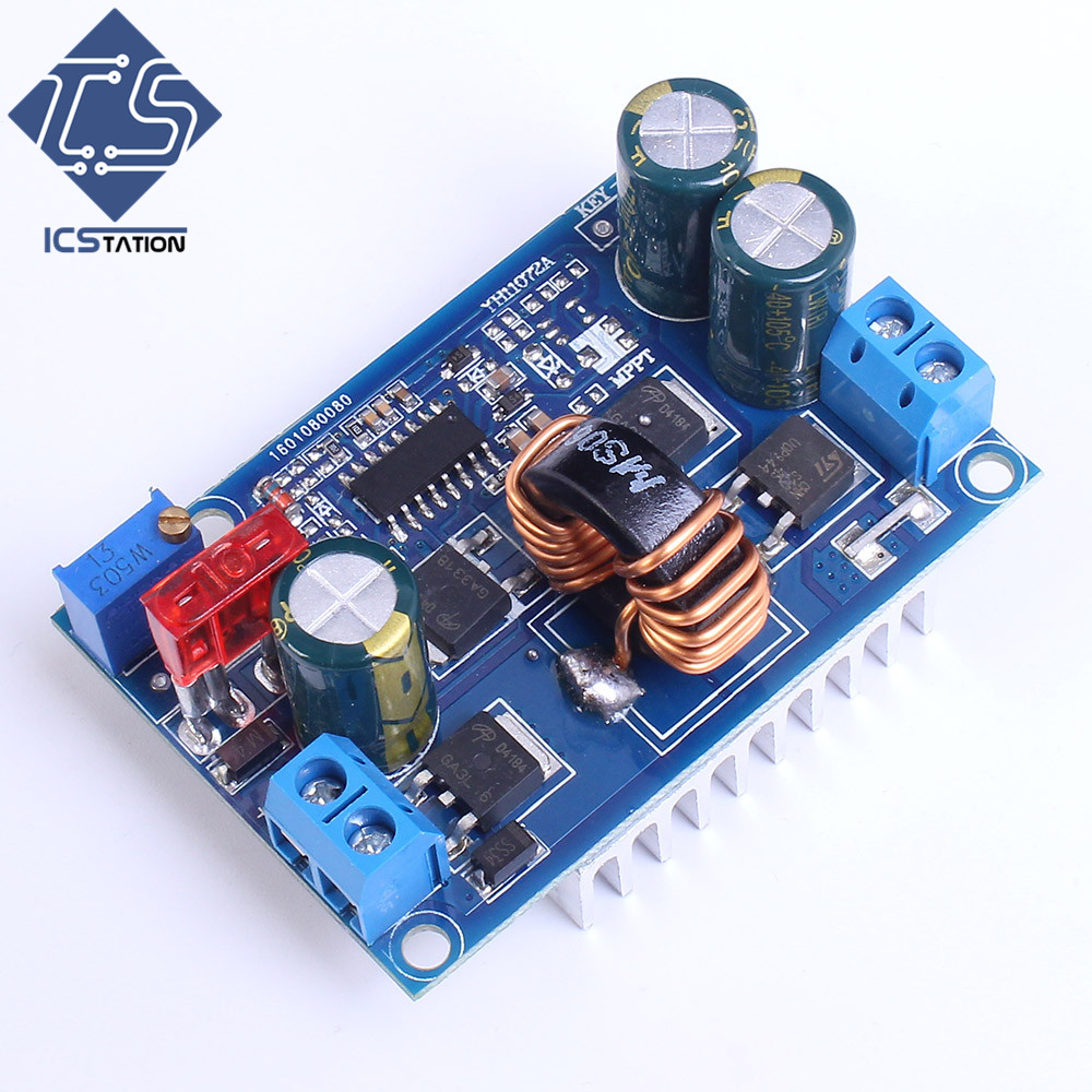 DC-DC Automatic Step-Up/Down Boost Buck Converter Module 5-32V To 1.25-20V 5A Continuous Adjustable Output Voltage dc dc buck boost module for solar battery board red lm2577s lm2596s