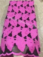 The new design has the beautiful beads with Nigeria high quality net cloth belt gem party evening dress fabrics