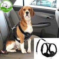 Reflective Mesh Nylon Dog Harness With Safety Car Seat Strap Soft Padded Pet Dogs Vest Adjustable