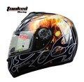 Envío gratis cascos de moto Tanked que compite con casco, cara llena cascos eléctrico T160 casco coche