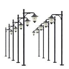 10 шт., модель железной дороги, светодиодные лампы, уличный светильник, s HO, масштаб 6 см, 12 В, новинка, модель LYM10, уличная лампа, дворовой светильник, светодиоды