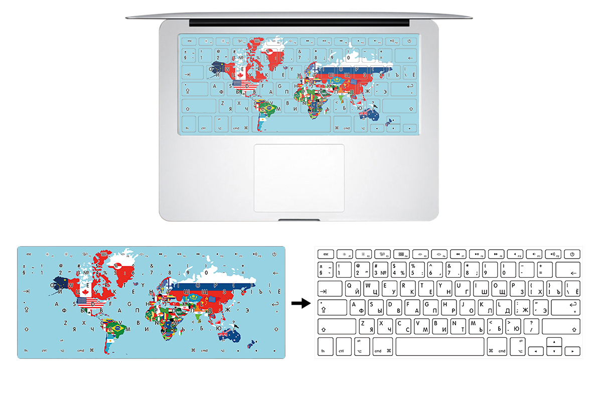 Price Comparisons HRH Worlds Flag Rubber US Keyboard Cover Keypad - Map us keyboard