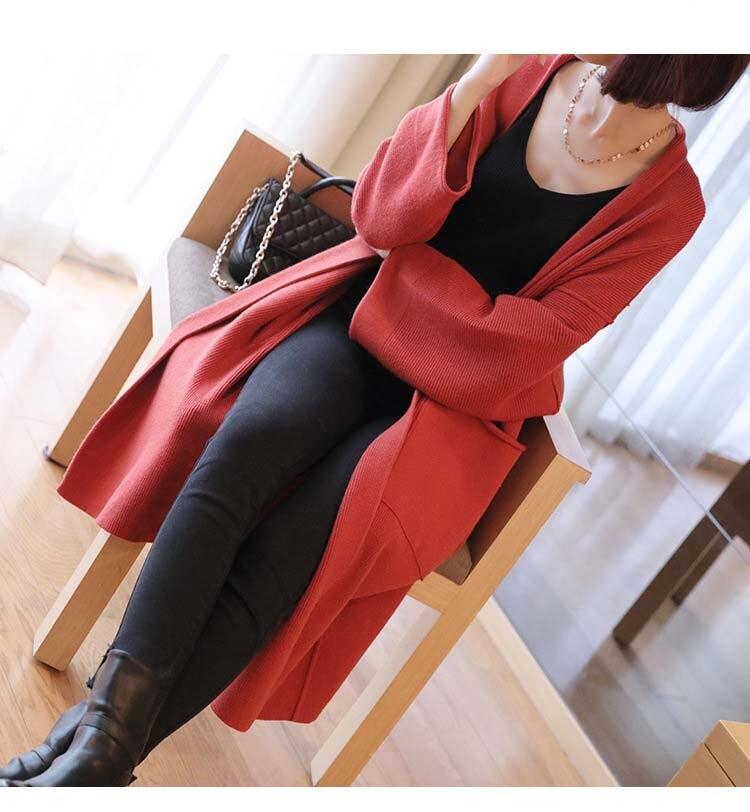 Mi Casual Tricoté Cardigans Manches Noir Chaud Lâche rouge Longue coffee 2018 Mode Tricot Épais gris Manteau Nouveau À Longues Pull Outerwears q8wOZgXx