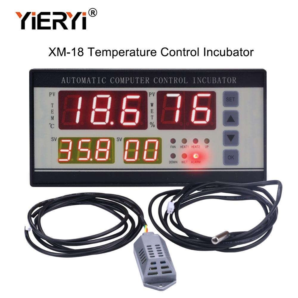 Yieryi Nova Marca XM-18 Sonda Controlador de Temperatura Incubadora Incubadoras Incubadora Industrial Automática Multifuncional