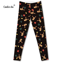 new model HOT Sexy Fashion Slim Pirate Leggins Pants Digital Printing black bottom of yellow rabbit  LEGGINGS 2016