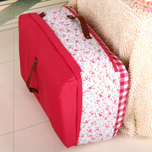 Free shipping Fabric storage bag quality quilt travel bag clothes storage box finishing box 56 32